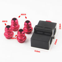 Oil filter sandwich adapter with oil thermostat in line thermostat AN10