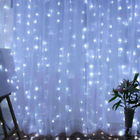 2M/3M/6M Curtain Icicle LED String Fairy Lights Xmas Wedding Party Decor New