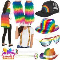 Gay Pride Fancy Dress Accessories Rainbow Hats Jewellery LGBT Parade lot