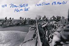 Norman T. Hatch Signed 4x6 Photo With The Marines At Tawara USMC S/Sgt Iwo Jima