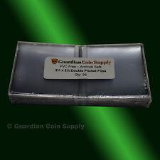 25 - 2.5x2.5 Double Pocket Vinyl Flips - PVC FREE