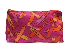 Clinique Pink Chubby Lipsticks Print Cosmetic Travel Toiletry Makeup Bag Pouch