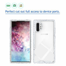 For Samsung Galaxy Note10+ Plus Shockproof Rubber Hybrid Clear Back Case Cover