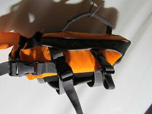 """NWOT Pet Life Jacket Flotation Vest Orange Size XSmall 8"""" Long Back"""