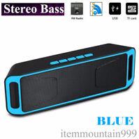 Dual Wireless Bluetooth LOUD Speaker Waterproof Outdoor Stereo Bass USB/TF/FM