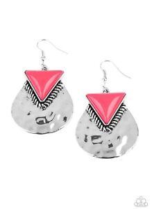 Paparazzi Road Trip Treasure Pink Earrings