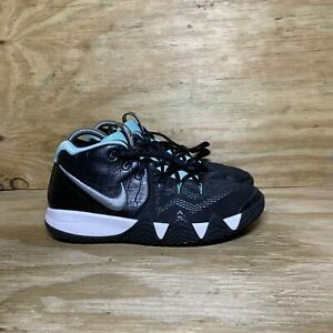 Nike Kids Kyrie 4 GS Tiffany Shoes Youth Size 6.5 Black Teal Silver AA2897-390