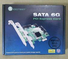 IOCrest PCIe x1 Interface 4-Port Internal SATA Controller Card 88SE9215 Marvell