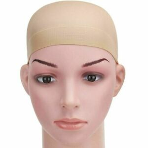 Wig Cap Hair 2 Pack Beige & Nude Breathable Stocking Nylon Stretch Liner uk