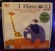 University Games Play 'N Learn System I Have Reading Game - New