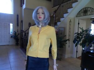 New Lilly Pulitzer Zesty Lemon Cotton Cardigan Size S