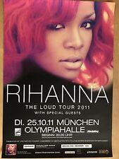 Rihanna 2011 Munich -- Orig. Concert Poster-concert affiche a1 XX