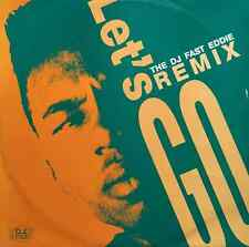 """THE DJ FAST EDDIE - Let's Go Remix (12"""") (G+/VG)"""