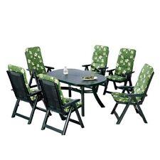 BEST 96236233 13-teilig Komplett Set Santiago, Gartenmöbel Tisch + 6 x Stuhl B31