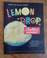 1957 Sealtest Sherbet Ad  Lemon Drop