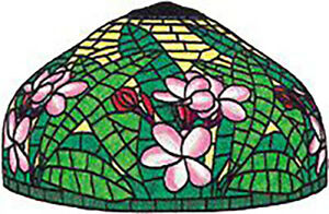 Lei Flower Stained Glass Lamp Pattern