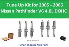 Air Filter, Oil Filter, Spark Plugs Fit for 2005  2006 Nissan Pathfinder Tune Up