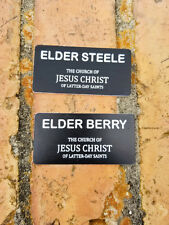 2 LDS Missionary Name Tags Mormon Missionary Name Badge with Magnet