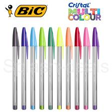 BIC Cristal Ball Colours Fun Multicolour Pens 1.6mm nib - Choose Any Colour
