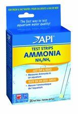 API Ammonia NH3/NH4 Fresh or Saltwater Aquarium Test Strips 25 Tests