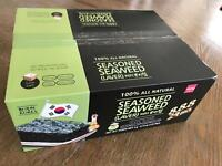 【24Pack】100% All Natural Seasoned Seaweed 4g*24Pack ( LAVER) Free US Shipping