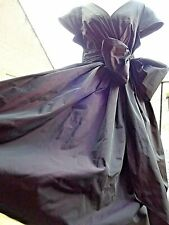 Vintage Style Laura Ashley Purple Princess Taffeta Wrap Bow Dress Size 10 R£120