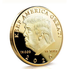 2020 President Donald Trump 24k Gold Plated EAGLE Commemorative Coin Republican