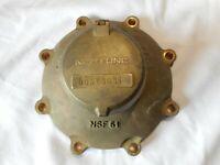 """VINTAGE ANTIQUE Industrial STEAMPUNK Decor Neptune BRASS 1 1/2""""  WATER METER"""