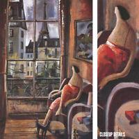 "24W""x36H"" LA VIE EN ROSE by DIDIER LOURENCO - INTERIOR EIFFEL TOWER PARIS CANVAS"
