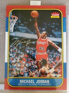 """MICHAEL JORDAN Autographed Bulls """"Fleer Rookie Blow Up"""" UDA"""