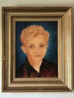 YOUNG MAN IMPRESSIONIST PORTRAIT OIL PAINTING 1968 MODERN IMPRESSIONISM