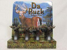 4X DA BUCK DEER HEAD NOVELTY TORCH LIGHTERS HUNTER OUTDOORS WOODS WINDPROOF NEW