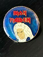 Collectible Vintage Iron Maiden Band Colorful Metal Pinback Hat Pin Lapel Pin