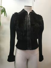 Black fur sweater jacket
