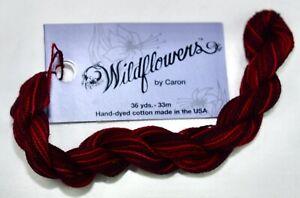 Caron Wildflowers 1 ply pima cotton 36 yds handpainted 250 Claret red