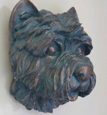 Dog Head Iron Wall Mount Sculpture  Home Art Decor Pet Gift