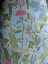 EUC! Pottery Barn Pretty Floral Boho Pink Blue Green Duvet Cover~Full/Queen