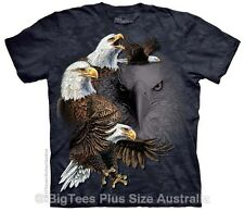 American Find 10 Eagles Tie Dye Big Mens T-Shirt - Label US 4XL (Fits AUST 7XL)