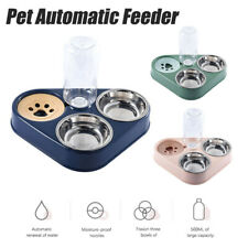 Pet Automatic Feeder Dog Cat Water Dispenser Bottle Bowl Dish Water Fountain