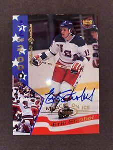 1995 Signature Rookies 1980 Miracle on Ice Hockey  Eric Strobel #35 Auto /2000