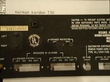 Harman Kardon 730 Reciever Back Plate Parting Out 730