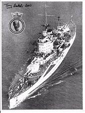 TONY BALCH HMS WARSPITE  D-DAY VETERAN RARE SIGNED PHOTO