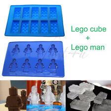 Brick & Man Silicone Mold Ice Chocolate Fun Mould Party Minifigure Block AU