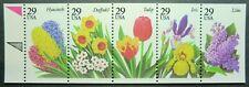 2760 - 2764 MNH 1993 29c Garden Flowers PB lilac daffodil tulip iris hyacinth
