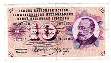 Suisse SWITZERLAND Billet 10 FRANCS 1964 - 1965  P45   BON ETAT