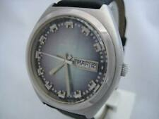 NOS NEW SWISS WATER RESIST AUTOMATIC MEN'S MARVIN WATCH 1960'S WITH DAY & DATE