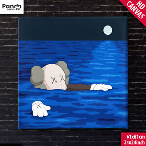 KAWS Tide Canvas Poster (60x60cm/24x24in) What Party Art Print