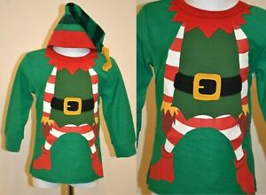 NEXT BABY BOY TODDLER 12-18 MONTHS CHRISTMAS NEW 2 PIECE ELF TOP AND HAT SET