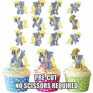 Vorgeschnitten My Little Pony Derpy Hooves 12 Essbar Kuchen Toppers Dekoration