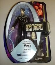 #1614/1701 MADE 2006 STAR TREK FIRST CONTACT DATA FIGURE SIGNED BY BRENT SPINER